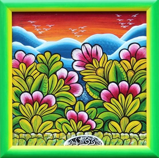 IGP259_Rashidi-Mzuguno_Flowers-at-Red-Sunset_35x35cm_3900CZK_EUR160