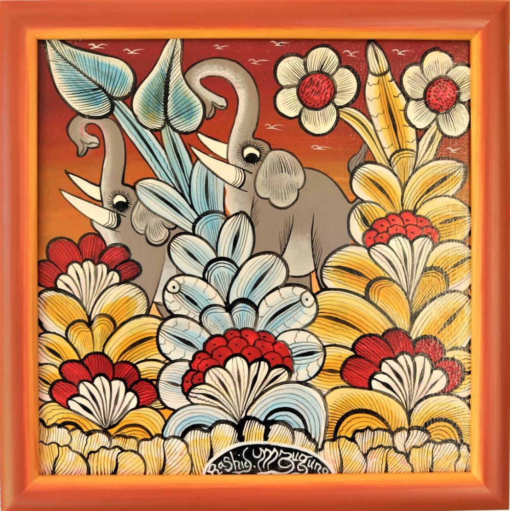 IGP391_Rashidi-Mzuguno_Grey-Elephants_34x34cm_3900Kč_EUR156