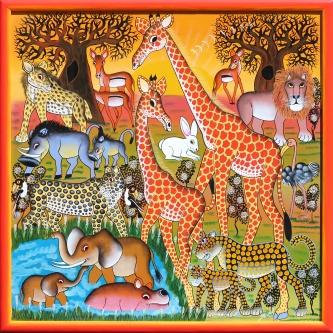 IGP251 Mbuka_Safari at Sunset_80x80cm_9900CZK_EUR400