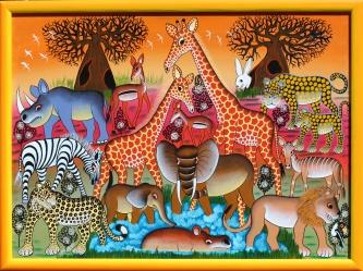 IGP253 SOLD Mbuka_Safari at Sunset_80x60cm